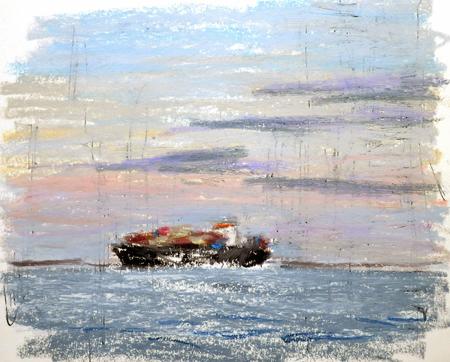 東京湾をゆく船-32