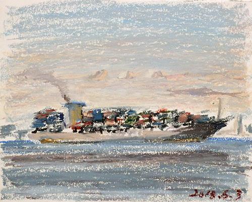 東京湾をゆく船-37