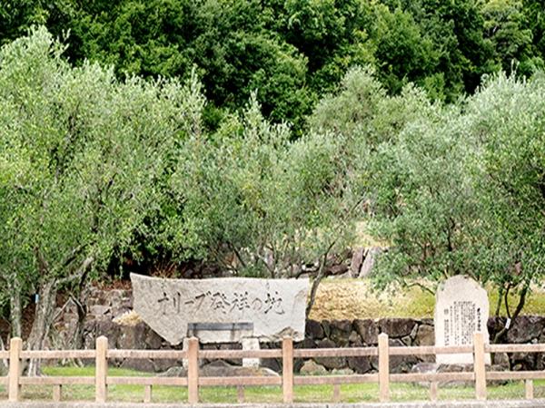オリーブ発祥の地石碑