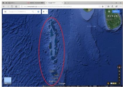 モルディブの位置2