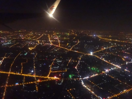 上海を飛び立つ