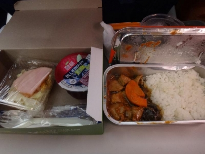 中国国内線の機内食