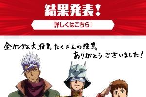 NHK「全ガンダム大投票 40th」の結果発表t