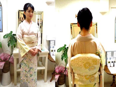 着物の着付けと ヘアメイクをされてお茶会やお花の会、相撲や歌舞伎鑑賞にお出かけするお客様がこれから多くなります