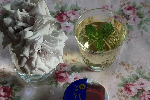 ブルーヘブンとスペアミント水