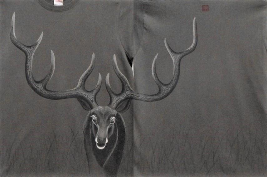 手描きTシャツ 鹿