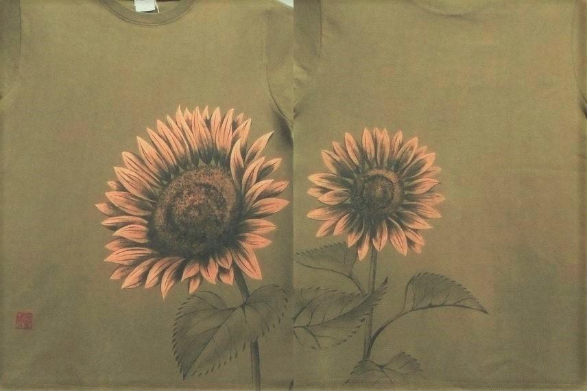 手描きTシャツ 向日葵