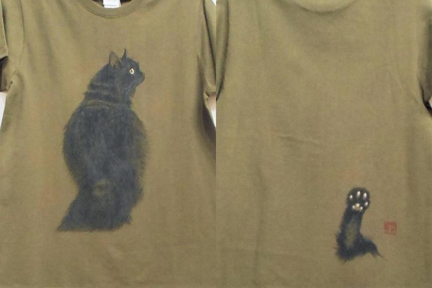 手描きTシャツ ネコ