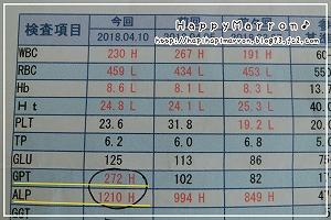 血液検査結果4月10日2