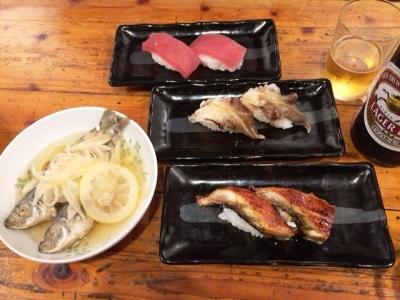 171008こまいちアジ南蛮漬けと寿司