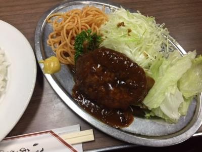 171010桃乳舎ハンバーグライス500円