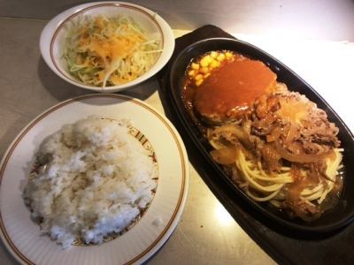 180213キッチンカロリー満ぷく洋食駅前店ハンバーグとカロリー焼780円