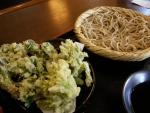 そば陣の山菜天ぷらそば