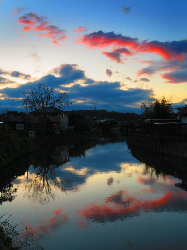 180418,田越川夕景