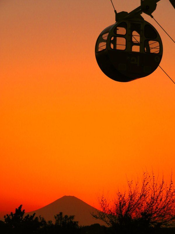 180421,ソレイユの丘の観覧車 夕景5