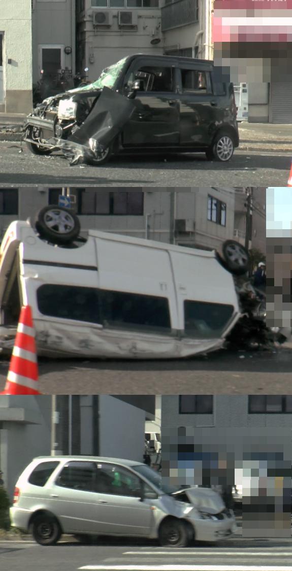 4月13日 広島市 3台がからむ交通事故