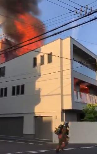 広島市中区白島中町 火事