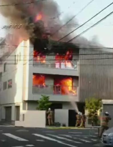 白島中町 住宅火災3