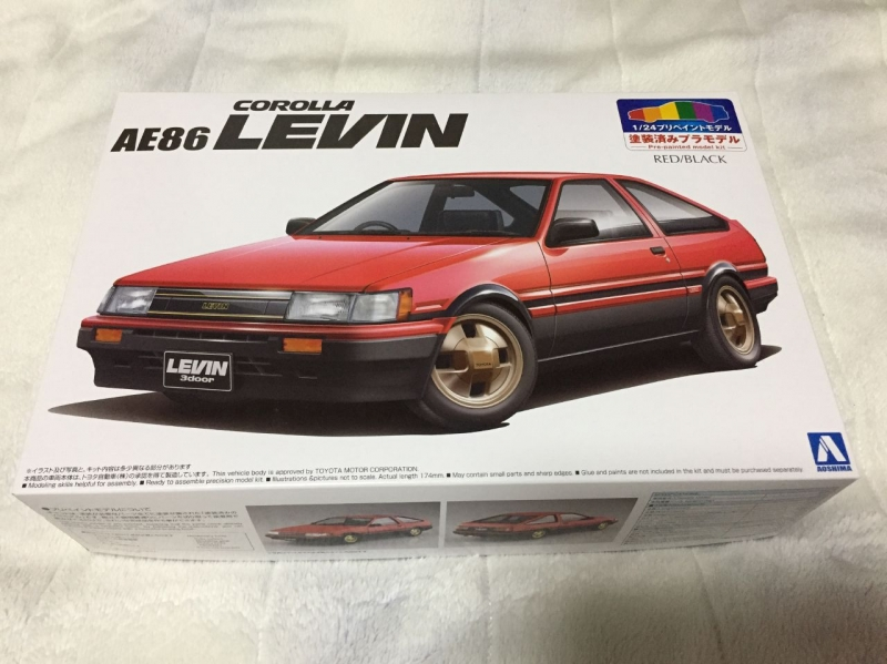 プリペイント AE86 レビン