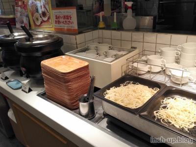 カレーとパスタ麺