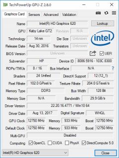 EliteBook x360 1020 G2_GPU-Z_01