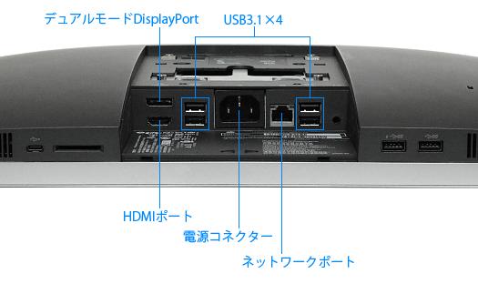 HP-EliteOne-800-G3-AiO_背面のインターフェース_01a