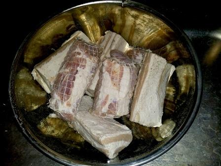 豚バラ肉塩抜き