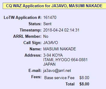 WAZ_CW application