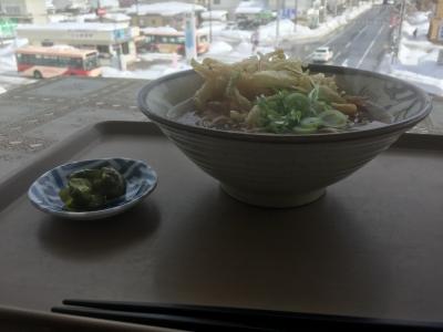 天ぷらそば(小、横から)