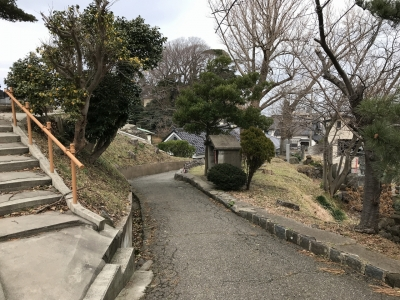 安楽寺への道