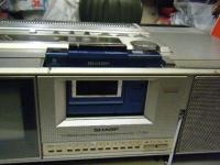 シャープ株式会社 ラジオ・カセット・カラーテレビジョン受信機 CT-5001重箱石16
