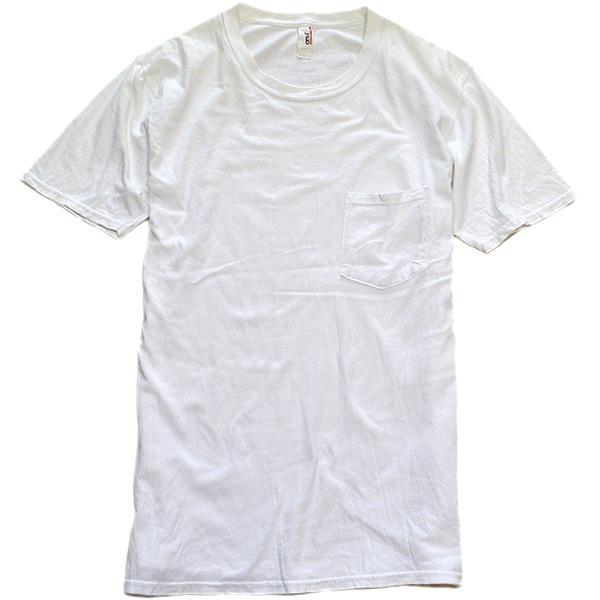 メンズレディース無地白Tシャツ画像@古着屋カチカチ01