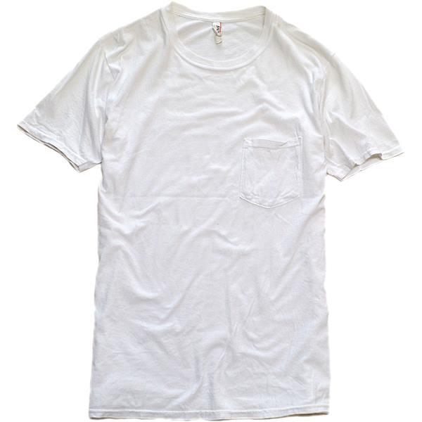 メンズレディース無地白Tシャツ画像@古着屋カチカチ02