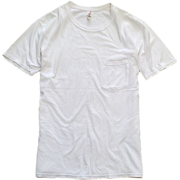 メンズレディース無地白Tシャツ画像@古着屋カチカチ04