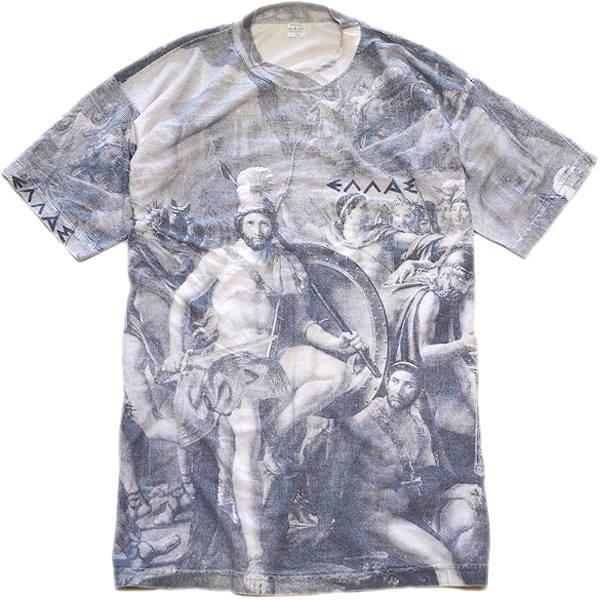 USED1点もの面白プリントTシャツ総柄デザイン@古着屋カチカチ02