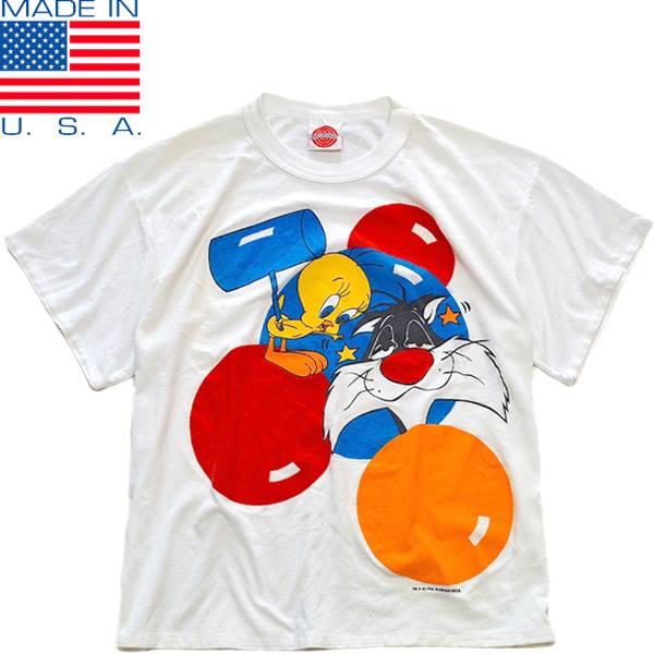 UsedキャラクタープリントTシャツ画像メンズレディースコーデ@古着屋カチカチ01