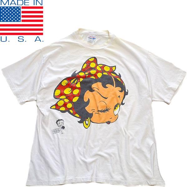 UsedキャラクタープリントTシャツ画像メンズレディースコーデ@古着屋カチカチ04