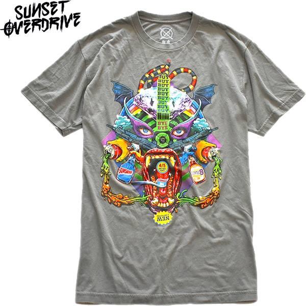 インパクトあるプリントTシャツ画像メンズレディースコーデ@古着屋カチカチ08