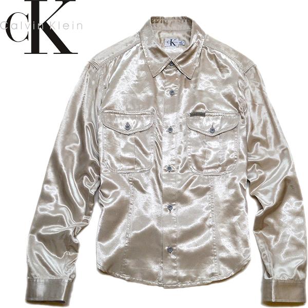カルバンクラインCK長袖シャツ画像@古着屋カチカチ (3)