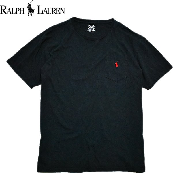 Ralph Laurenポロラルフローレン無地Tシャツ画像メンズレディースOK@古着屋カチカチ01