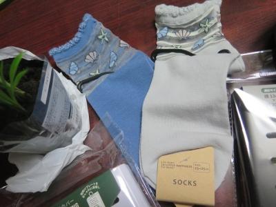 貝殻の靴下