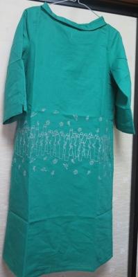 緑のニョロニョロの服