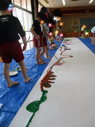 H30綾川町きらきら子育て支援事業 芸術活動  羽床保育所と羽床上保育所の子どもたち2