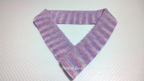 小春オリジナルビーズ半衿(リバーシブルタイプ)の完成写真
