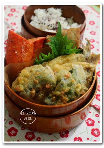 白身魚の天ぷら弁当