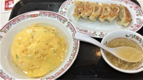 天津飯セット(塩)