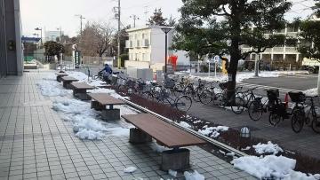 世田谷区総合運動場温水プール 駐輪場 雪かき