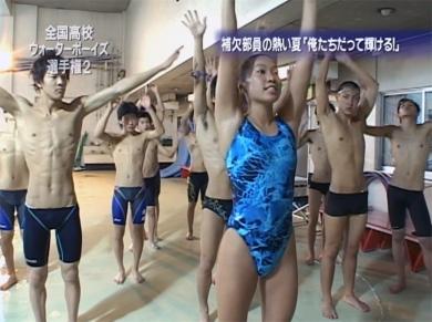 _ウォーターボーイズ選手権2 太成学院高校 練習の様子 スパッツ 競パン スクール水着