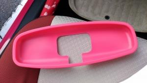 アクア ルームミラーカバー ピンク4