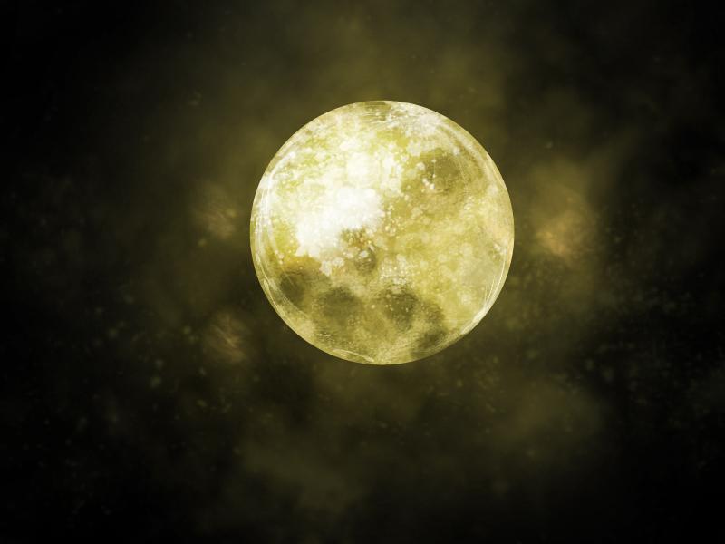 黄色の月完成